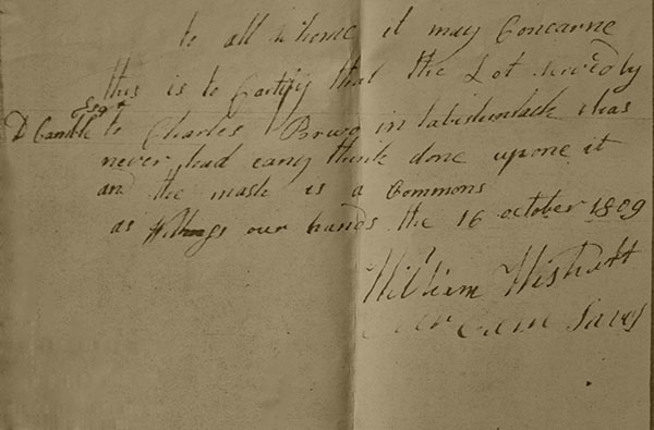 Transcription of this Attachment to David Savoy's 1809 Memorial at Archival Records/Administrative Documents.