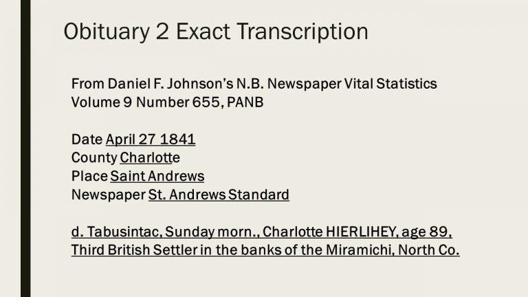 Obituary 2 St. Andrews Standard