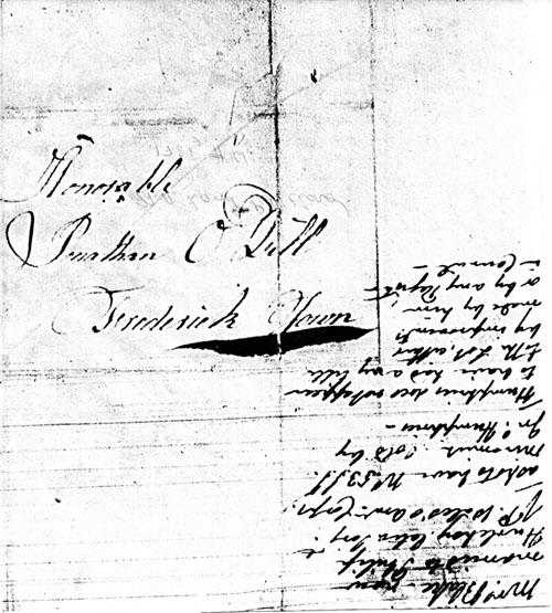 Transcription of Charlotte Blake's 1788 Letter Envelope at Archival Records/Administrative Documents.