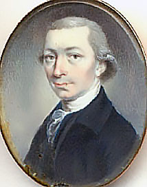 The Honorable Jonathan Odell (poet, surgeon, staunch Loyalist, Church of England clergyman, Provincial Secretary of the Province of New Brunswick) of Frederick Town. Charlotte Blake (then married to Philip Hierlihy) petitioned Jonathan O Dell (7 Jan. 1788) for justice with respect to a land title dispute. Public Domain. Jonathan Odell, N.B. Museum, Saint John, New Brunswick.