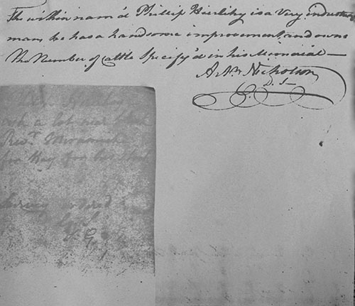 Transcription of this Attachment to Phillip Hierlihy's 1790 Memorial at Archival Records/Administrative Documents.