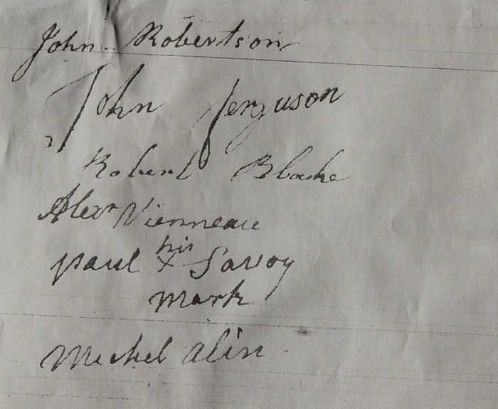 Transcription of this Attachment to the 1814 Otho Petition at Archival Records/Administrative Documents.