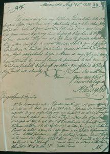 Alex Taylor Letter 31 Aug. 1803
