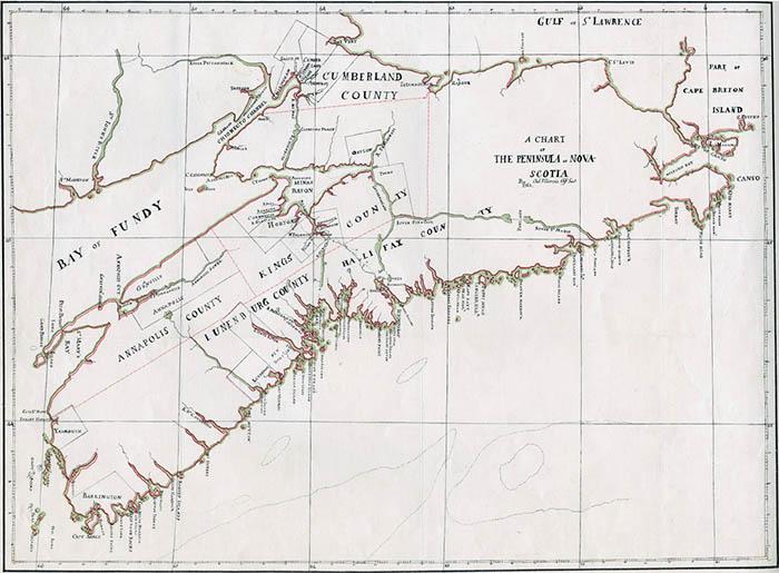 A Chart of the Peninsula of Nova Scotia.