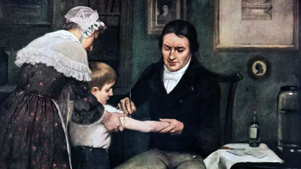Jenner Vaccinating A Boy