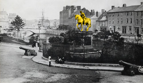 Yellow Equestrian Statue, Cork, Ireland