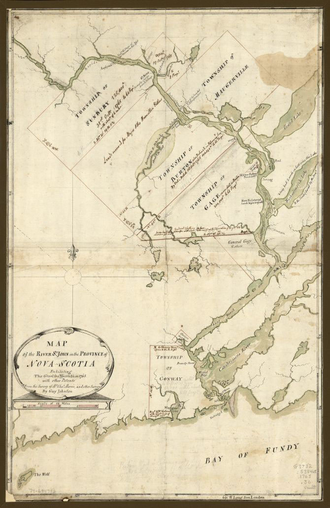 Map of the River St. John 1765