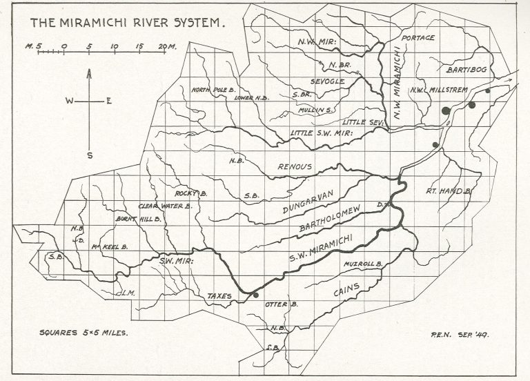 Nobb's Map Miramichi River System